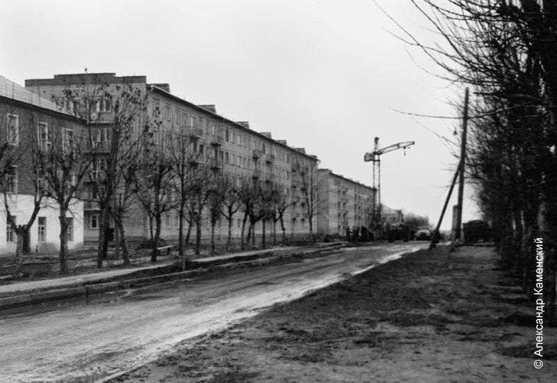 Строительство дома №6 по улице Пионерской. Конец 60-х годов