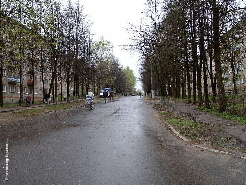 Вид от улицы Спортивной, май 2002 года