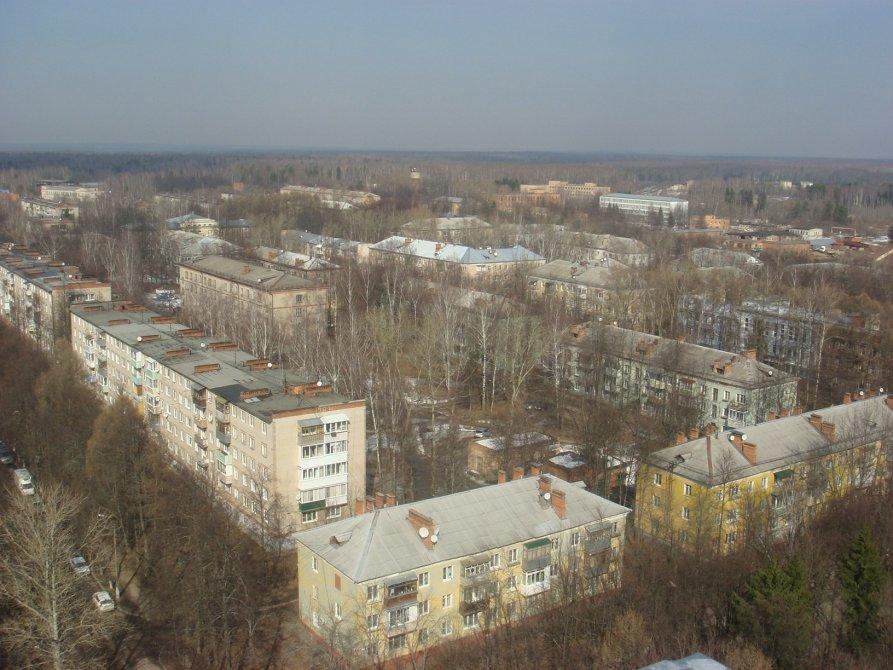 Вид на город с нового дома №12 по улице Спортивная, 2015 год