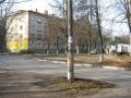 Перекресток Комсомольской и Горького, на заднем плане дом №15, 2008 год