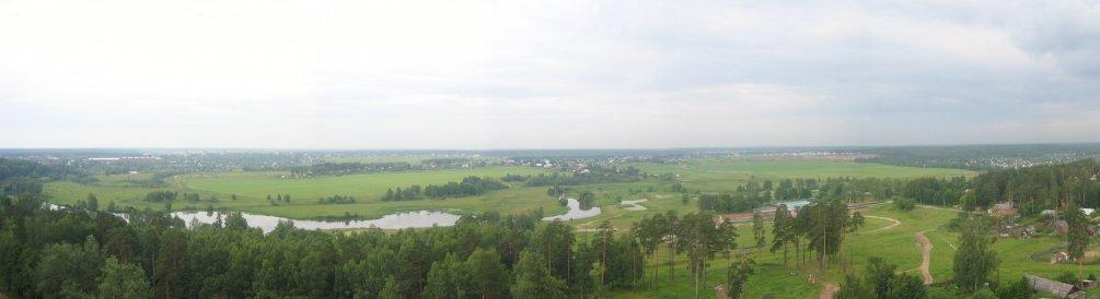 Панорама города и деревни Путилово, 2005 год