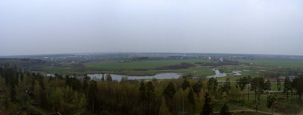 Панорама города и деревни Путилово, 2001 год