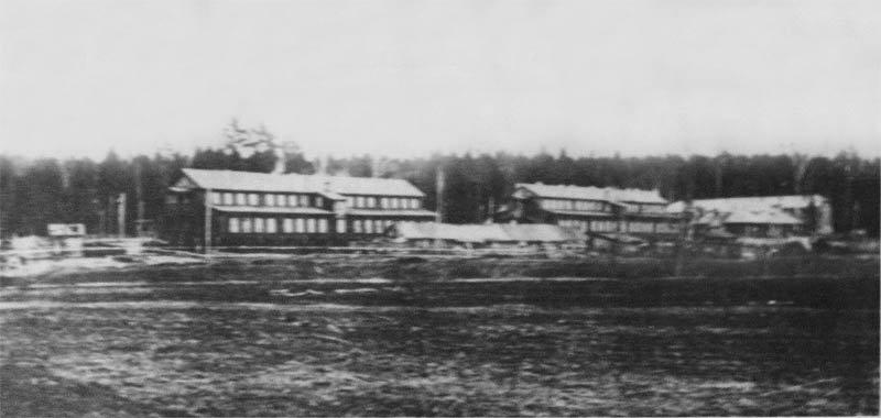 Дома-бараки в Низочке на Бережной улице, 1940-е годы