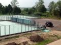 Идет обновление теннисных кортов в Красноармейске, 2004 год