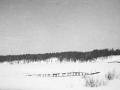 """Река Воря в районе Бережной улицы, на фото """"лавы"""" - деревянные дорожки над топкими местами у реки, 1960-е годы"""