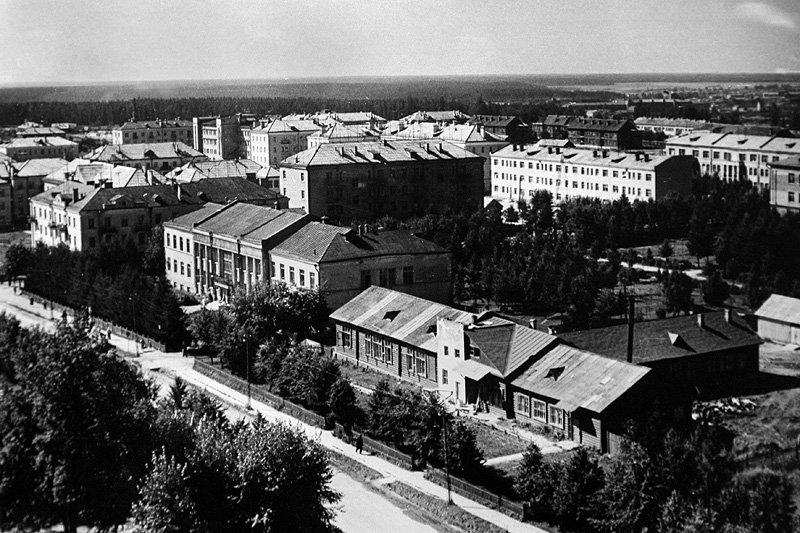 Вид на проспект Испытателей, 1950-е годы