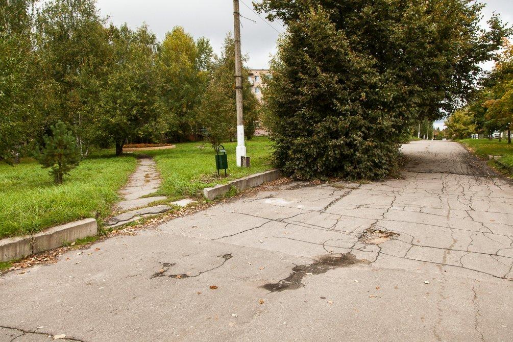 Пешеходная аллея на проспекте Испытателей, сентябрь 2013 года