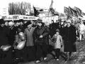 Демонстрация на Восточной улице в Красноармейске, 1970-е годы