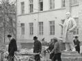 """Работы по капитальному ремонту здания """"штаба"""", 1980-е годы"""