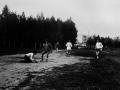 Футбольное поле, на заднем плане идет строительства дома №9, конец 70-х годов
