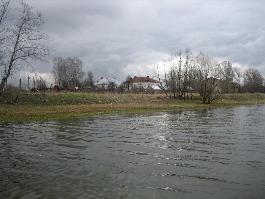 Вид на улицу Лермонтова с реки Вори, 2006 год