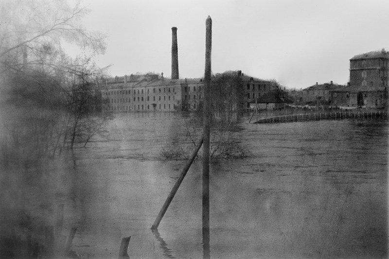 Половодье на реке Воря в Красноармейске, 1920-е годы