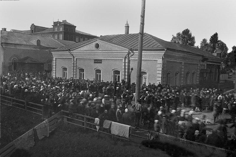 Встреча советской власти, 1917 год.