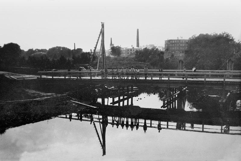 Старый «низкий» мост через Ворю, 1920-е годы