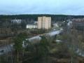 Автомобильный мост через Ворю и перекресток улиц Свердлова и Академика Янгеля (Красноармейского шоссе), железная дорога проходила там, где сейчас автомобильный мост, 2006 год