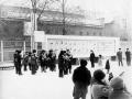 Праздничный митинг на площади у проходной фабрики, 1980-е годы
