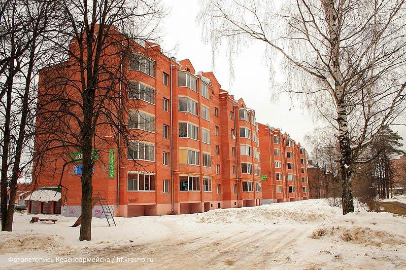 Дома №16 и 18 на улице Чкалова, построены в 2003 году, 2007 год