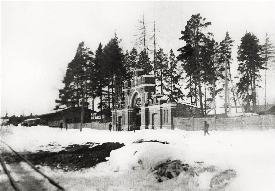 Узкоколейная железная дорога проходила параллельно улице Чкалова, 1930-е годы