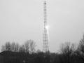 Монтаж башни связи у здания Администрации, 2004 год.