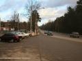 Начало улицы Чкалова, на снимке слева идет строительство дома №9, 2006 год