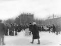 Ноябрьская демонстрация, площадь около Новой жизни и Чкалова, 1980-е годы