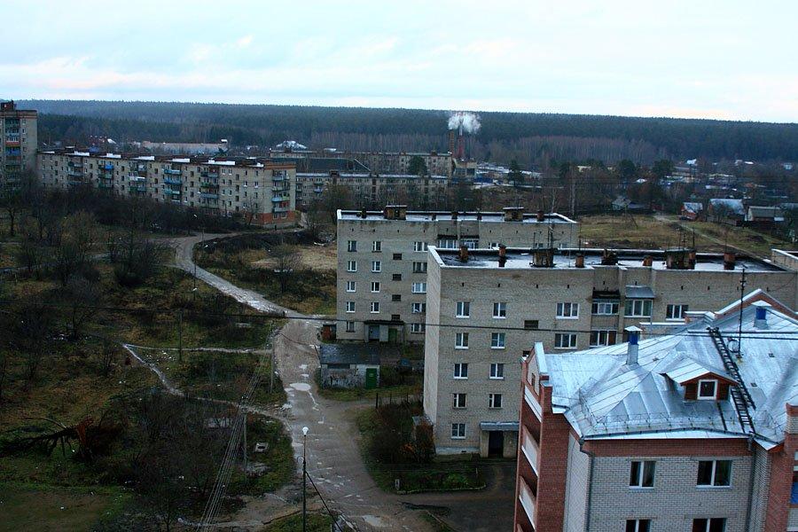Вид на дома на улице Морозова, декабрь 2006 года