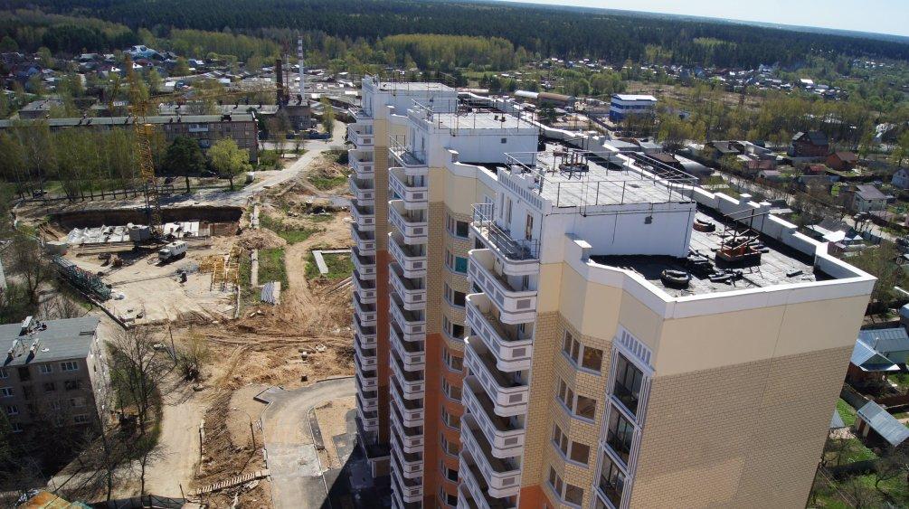 Вид на новые строящиеся дома улицы Морозова, 2015 год