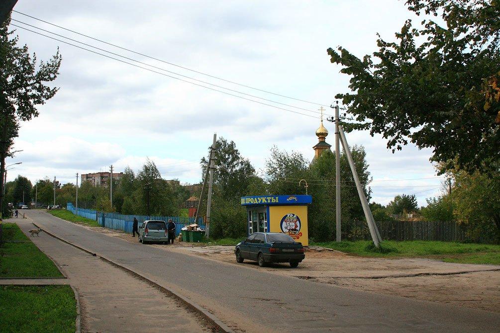 Панорама Краснофлотской улицы, раньше на этом месте стояли одноэтажные магазины, 2008 год