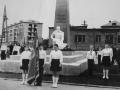 Праздничный митинг на Площади Победы в Красноармейске, 1980-е годы