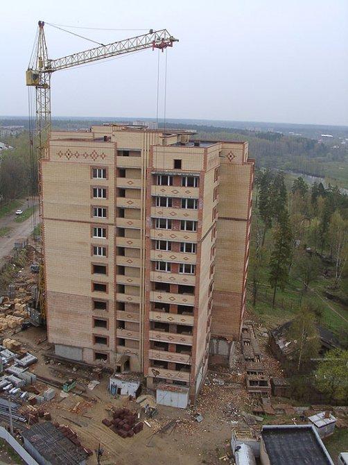 Строительство дома №4, 2002 год