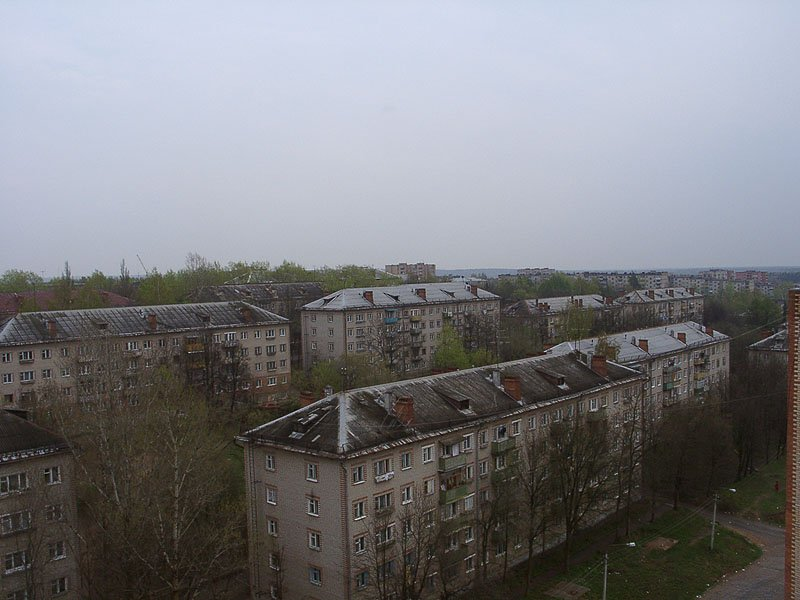 Дома на улице Гагарина и Строителей (второй ряд), 2002 год