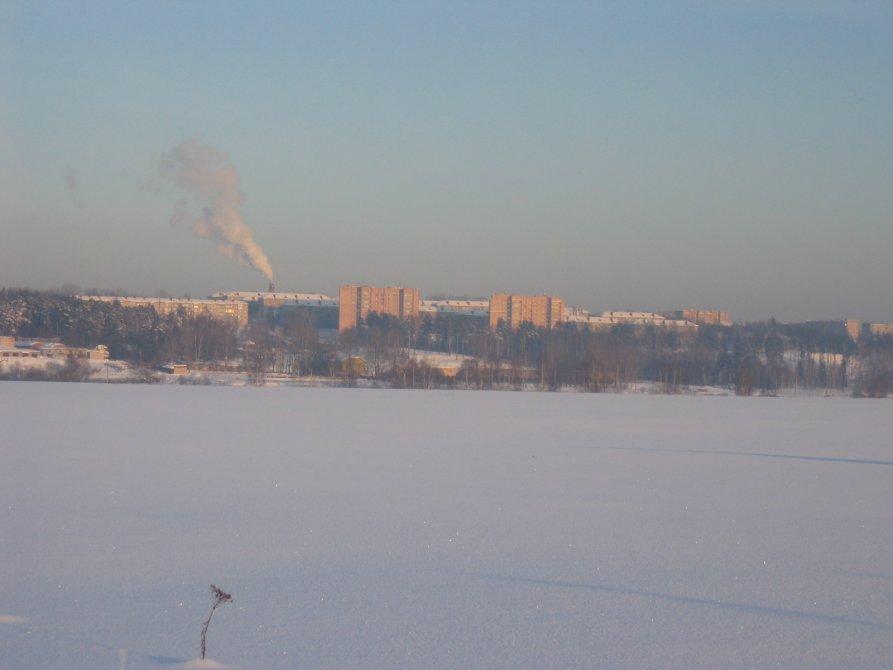 Панорама северной части города, январь 2002 года