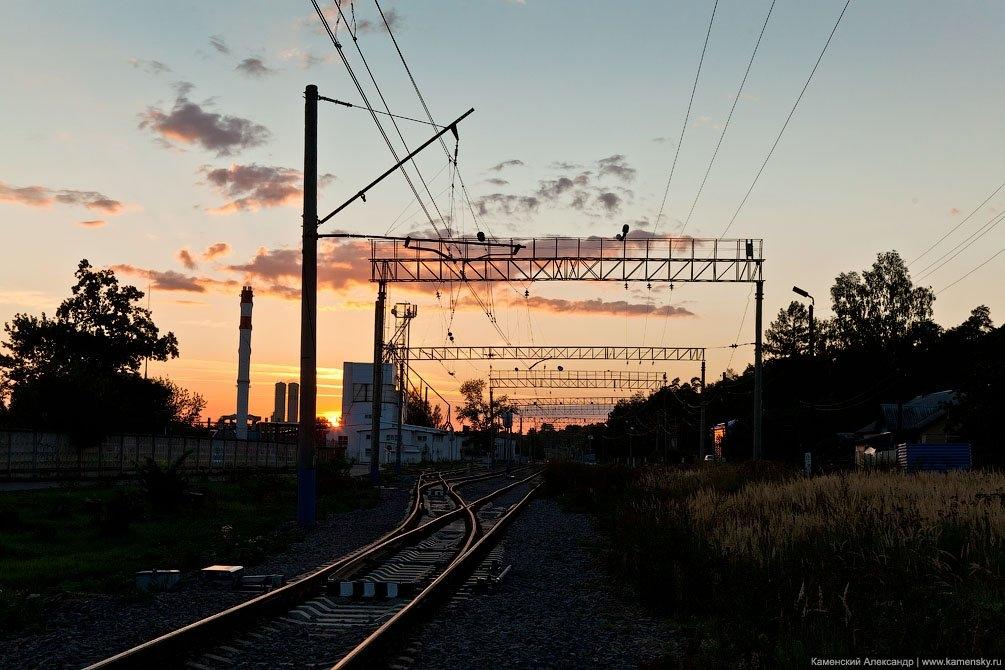 Станция Красноармейск на закате, август 2011 года