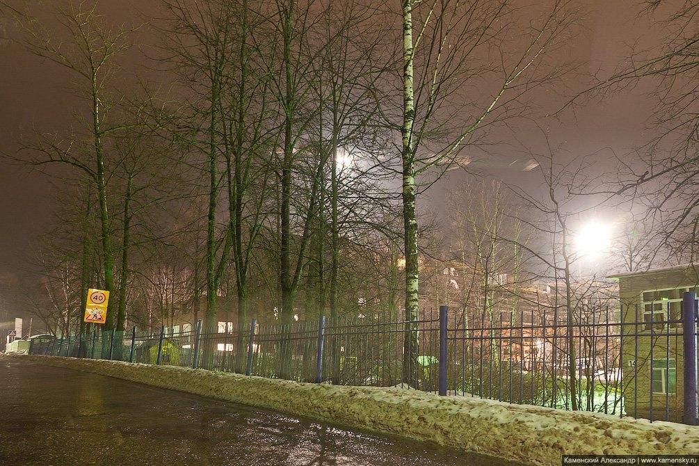 Улица Спортивная, идет строительство дома №12, декабрь 2012 года
