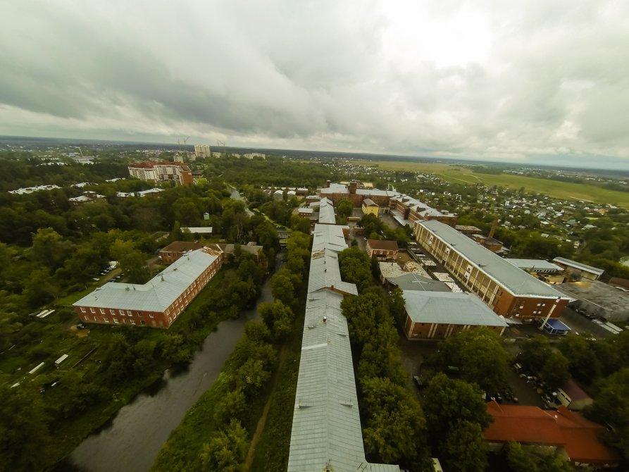Улица Свердлова и река Воря с высоты, август 2014 года