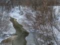 Река Воря, окрестности Лесничества, январь 2015 года