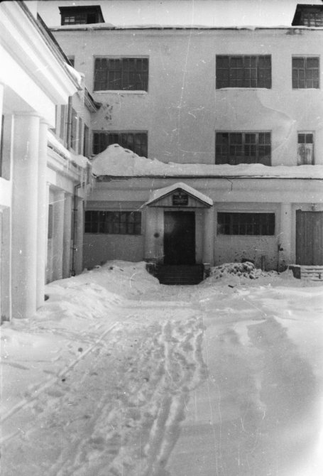 ДК Строгалина, вход в ШРМ (школу рабочей молодежи), 1950-е годы