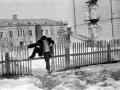 Улица Чкалова и Администрация города на заднем плане, 1960-е годы