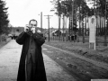 Горожане на улице Чкалова, узкоколейка, 1960-е годы