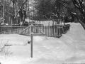 Дворик на улице Чкалова, место для сушки белья, 1950-е годы