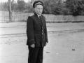 Горожанин на улице Чкалова в районе площади Победы, 1950-е годы