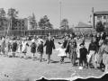Детский праздник на фабричном стадионе, 1950-е годы