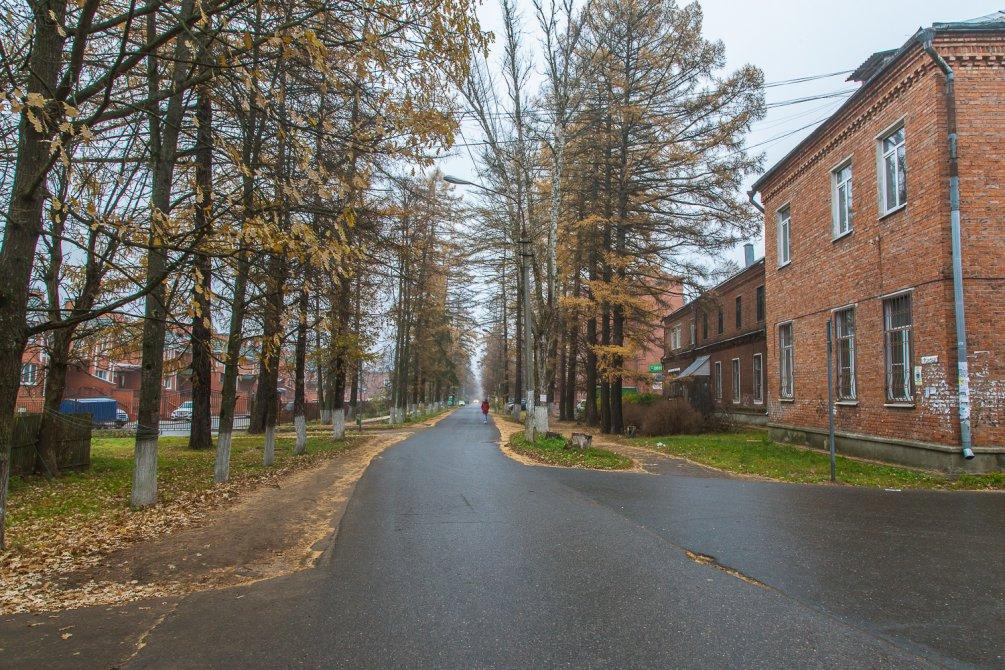 Улица Чкалова (аллейка), октябрь 2015 года