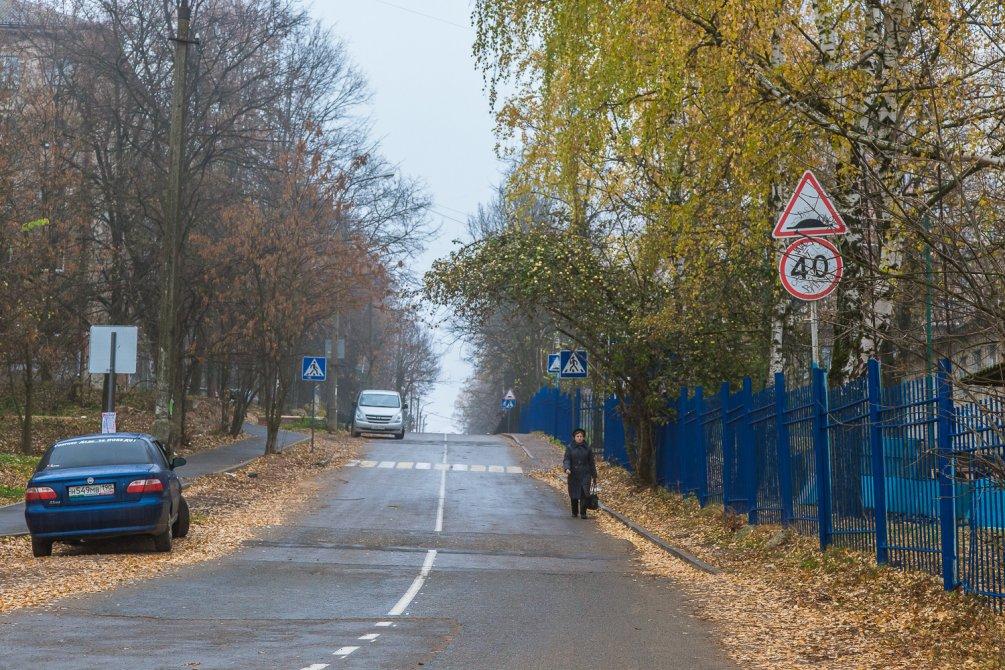 Улица Спортивная, октябрь 2015 года