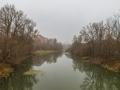 Река Воря в районе плотины, октябрь 2015 года