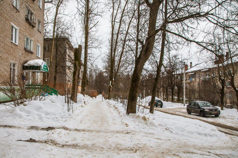 Улица Строителей, февраль 2017 года