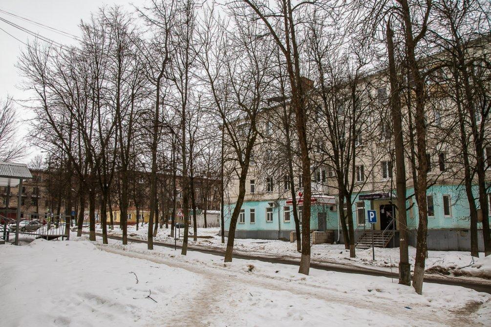 Перекресток улиц Комсомольская и Горького, февраль 2017 года