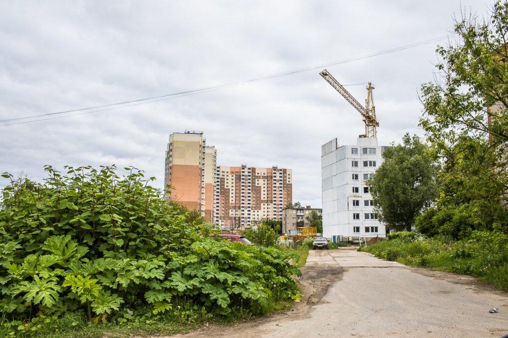 Строительство домов на улице Морозова, июнь 2017 года