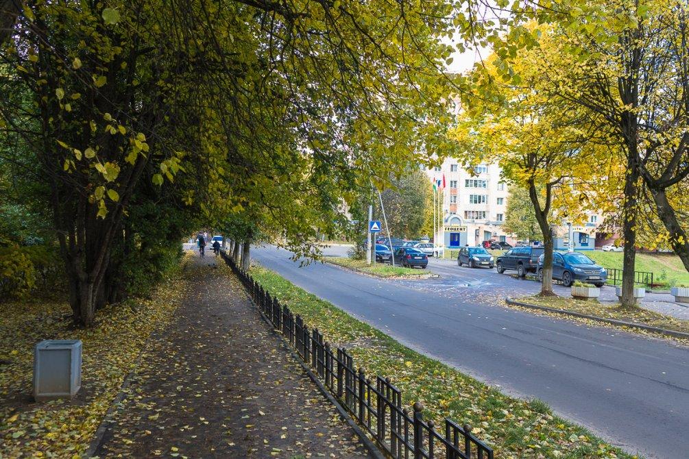 Аллея около ДК Ленина 3, октябрь 2017 года
