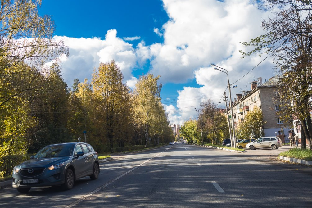 Улица Чкалова, октябрь 2017 года